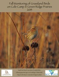 MRBO Grassland Birds on Cole Camp and Green Ridge Prairies in 2013