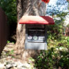 2Qt Hopper Feeder with Red Roof